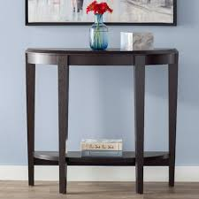 half moon console table with drawer andover mills blakeway half moon console table wayfair