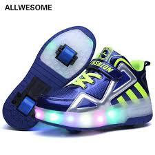 heelys light up shoes children led heelys shoes double wheel roller sneakers skate