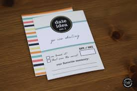 52 date ideas printable cards gift box