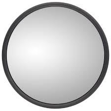 vanity mirror clips heated 8 5 in black steel convex mirror round universal mount