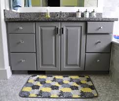 Bathroom Ideas In Grey Bathroom Fabulous Rectangular Grey And Yellow Color Bath Mats