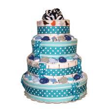 diper cake made blue polka dots baby boy cake
