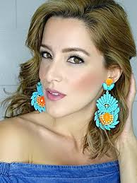 big ear rings images Turquoise chandelier earrings big earrings lace earrings dangle