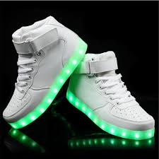 skechers womens light up shoes high top girls new shoes simulation unisex glowing light up basket