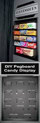 an easy diy project using pegboard and chalkboard paint to make a