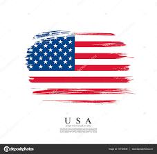 American Flag In Text American Flag Made In Brush Stroke U2014 Stock Vector Igor Vkv