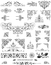 85 free vintage vector ornaments pack 123freevectors