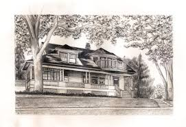 dethman house sketch by sally donovan historic hood river