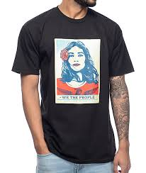obey clothing obey we the defend dignity black t shirt zumiez