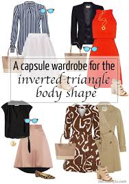 over 40 work clothing capsule capsule wardrobe for the inverted triangle body shape