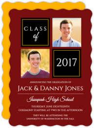 joint graduation invitations graduation announcements