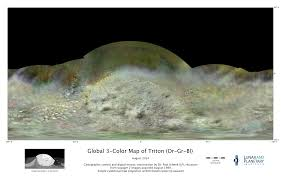 Moon Map New Global Map Of Triton Shows Neptune U0027s Moon Like Never Before