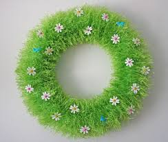 monthly make spring wreath through the camera lens