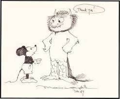 drawing or sketch or original art by sendak abebooks