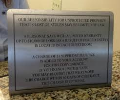 check in desk sign front desk manditory safe charge sign picture of the carbondale