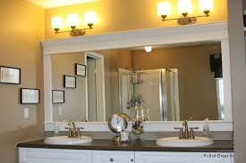 White Bathroom Mirror Frame Wonderful How To Upgrade Your Builder Grade Mirror Frame It Cost