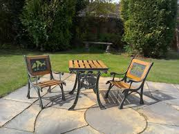 Wrought Iron Patio Furniture by Children U0027s Wrought Iron Patio Table And Two Chairs 27 00 In