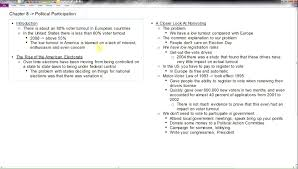 ap us government chapter 8 political participation youtube