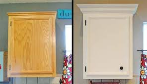 how to add crown moulding to cabinets installing cabinet crown moldings make your builder grade