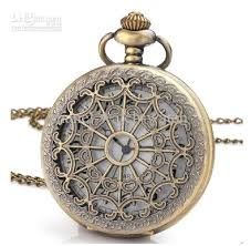 quartz necklace watch images Unisex quartz pocket watch bronze antique mens men 39 s ladies jpg