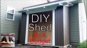 Building A Backyard Garden by How To Build A Budget Board And Batten Style Backyard Garden Shed