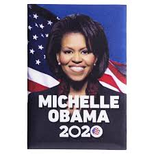 American Flag Magnet Michelle Obama 2020 Photo Magnet With American Flag And A Deep