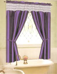 White And Purple Curtains Accessories Charming Bathroom Decoration With Purple Curtains