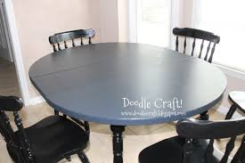 Round Kitchen Table by Doodlecraft Stencil A Round Kitchen Table Tutorial