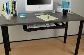 keyboard mount for desk under desk sliding keyboard tray afcindustries com in desks with