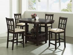 round counter height table set piece round counter height table set in dark cherry finish by