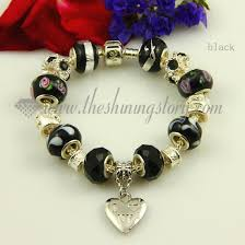 murano glass beads bracelet silver images Silver charms bracelets with murano glass crystal beads wholesale jpg