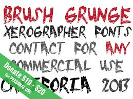 brush grunge font dafont com fonts pinterest fonts