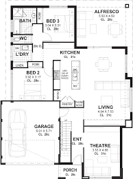 3 bedroom floor plans with garage 3 bedroom 2 storey home designs perth vision one homes