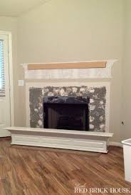 fireplace makeover demo u0026 pillar construction little red brick