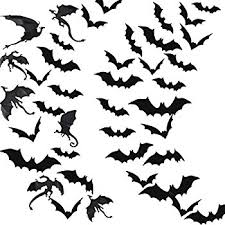 unomor decorations bat stickers window wall décor for
