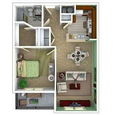 Bedroom Floorplan by Senior Apartments Indianapolis Floor Plans