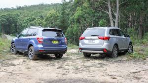 subaru outlander 2014 mitsubishi outlander v subaru forester suv comparison review