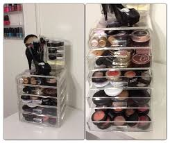 Bathroom Makeup Storage Ideas by Makeup Storage Clear Acrylic Makeup Organizer W Drawers Ediva