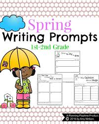 spring writing prompts for first grade planning playtime
