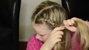 how to french braid your own hair into pigtails youtube