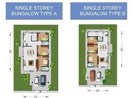 collection single storey bungalow floor plan photos home