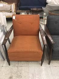 Orange Leather Sofa Chairs Img Mid Century Modern Club Chairs Arm Orange Armchair