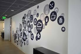 creative office branding using wall graphics from vinyl impression creative office branding using wall graphics from vinyl impression wall stickers give a professional look