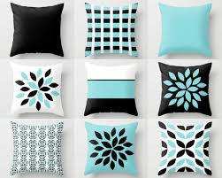 Black Sofa Pillows by Couch Pillow Covers Aqua Black White Pillow Covers Floral