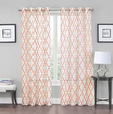 Victoria Classics Curtains Grommet by Luxurious Geo Grommet Crushed Sheer Voile Curtains Assorted