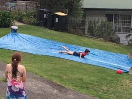 Backyard Slip N Slide Beaches Catch Up With A Mate