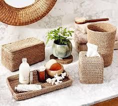 crochet weave bath accessories pottery barn