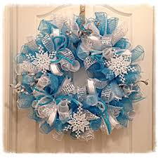 christmas mesh wreaths snowflake turquoise and silver deco mesh from ckdazzlingdesign on