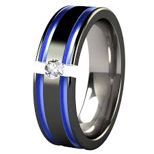 mens blue wedding bands mens black and blue wedding rings abyss black and colored