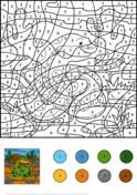 advanced color by number coloring pages free printable pictures